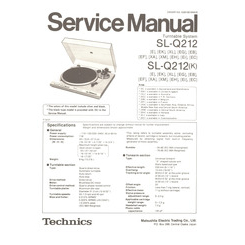 SL-Q212(K) Technics Service Manual HighQualityManuals.com