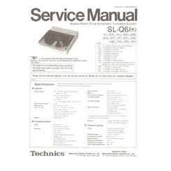 SL-Q6/(K) Technics Service Manual HighQualityManuals.com