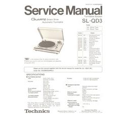 SL-QD3 Technics Service Manual HighQualityManuals.com