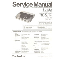 SL-QL1 Technics Service Manual HighQualityManuals.com