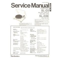 SL-D3 Technics Service Manual HighQualityManuals.com