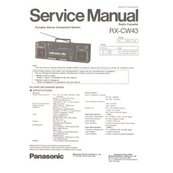 RX-CW43 Panasonic Service Manual HighQualityManuals.com