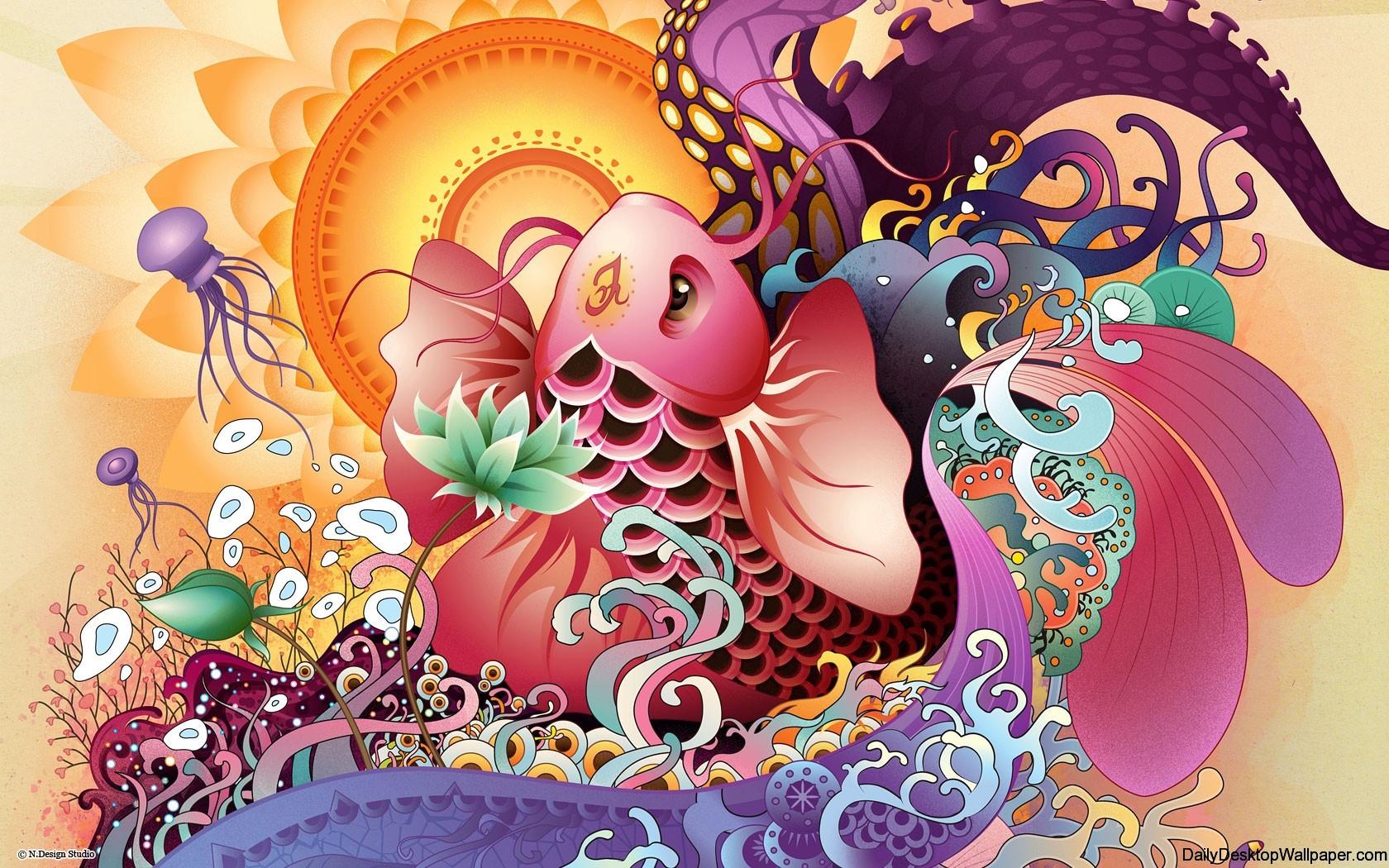 Cute Turtle Drawing Wallpaper Vector Sea Wallpaper Hd Wallpapers