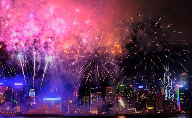 City Firework Display Hd Wallpapers