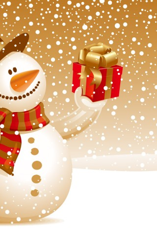 Iphone X Official Wallpaper Hd Download Happy Christmas Snowman Wallpaper Hd Wallpapers