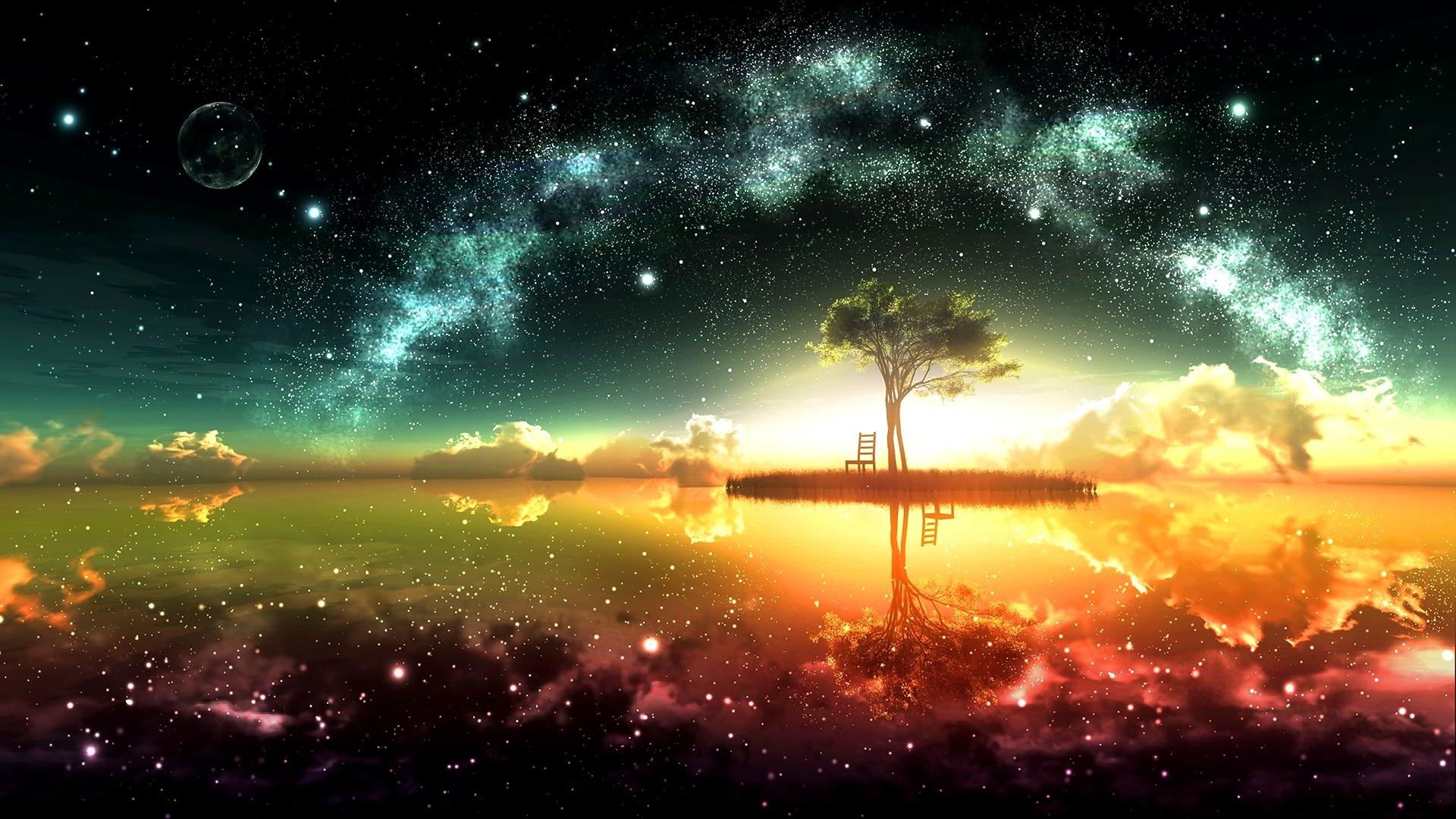 surreal space wallpaper hd