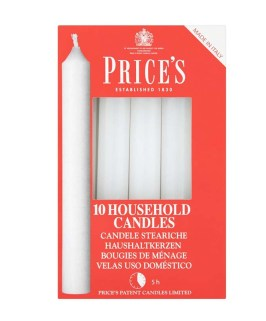 Prices Household Candles 10 Pack White