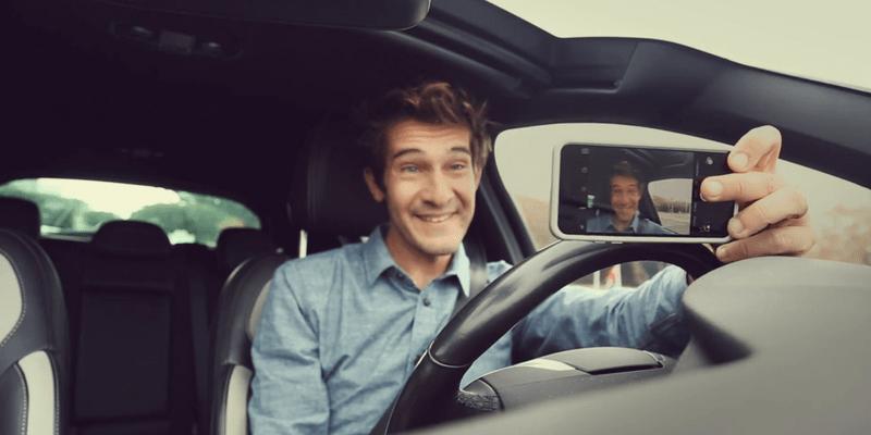 Dumb car selfie