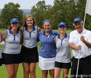 Successful high school golf practice
