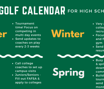 Junior Golf Calendar for HS Golfers