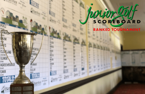 Junior golf scoreboard recognition