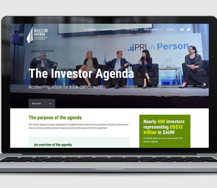 The Investor Agenda - Website developed for the global investor community