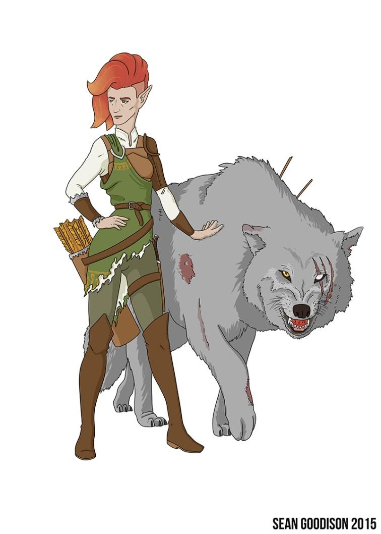 0125-WoodElfRanger-Wolf