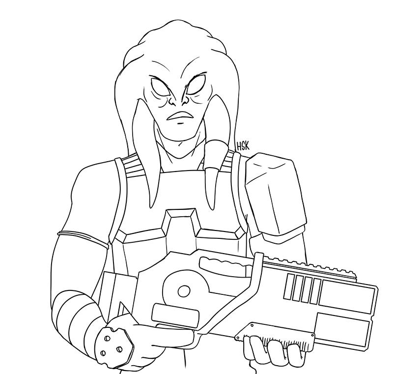 Vas, Nautolan Mercenary – WIP