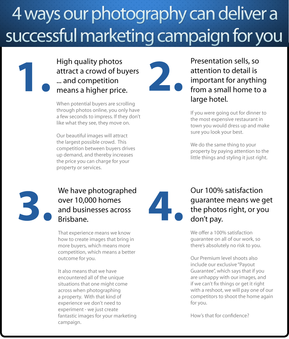 Brisbane photographer - 4 ways we can deliver a successful marketing campaign for you
