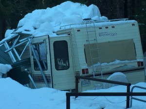 RV Damage by Snow