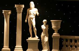 Columns, Statues and Urns