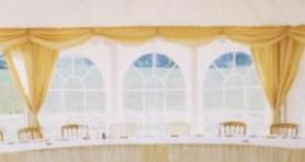 Marquee window drapes - non closing