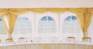 Marquee window drapes - non closing