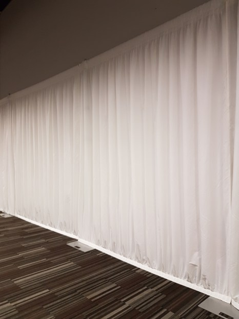 WHITE PLEATED