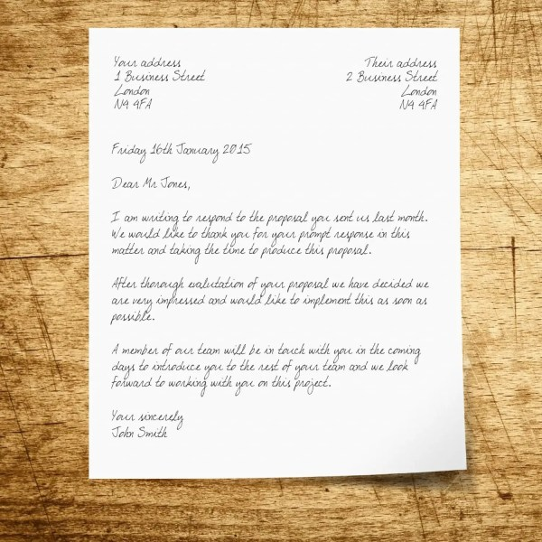 How to Write Business Letter Envelope