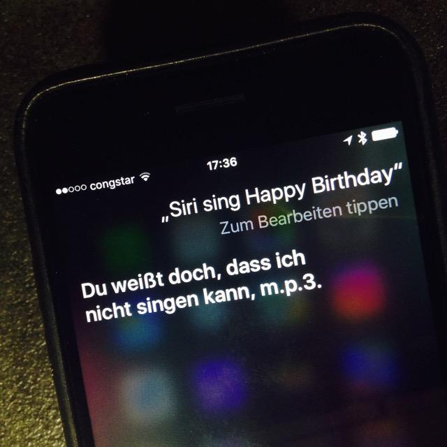 Siri kann nicht singen