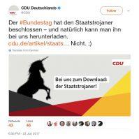 Staatstrojaner im Download bei der CDU