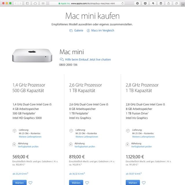 Mac mini bei Apple kaufen