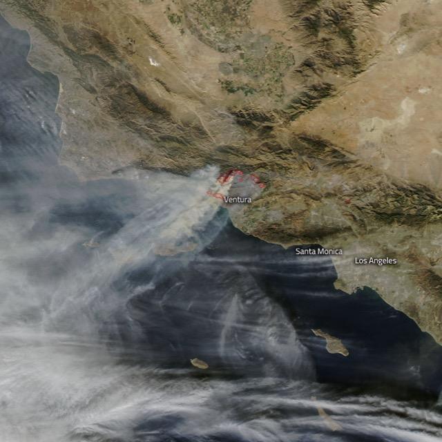 Nasa California Fire Ventura County