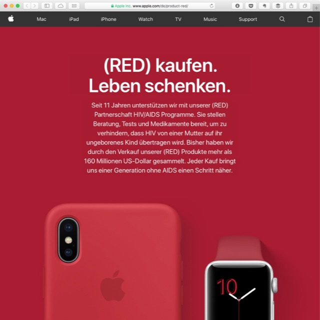 (PRODUCT)RED Apple 2017