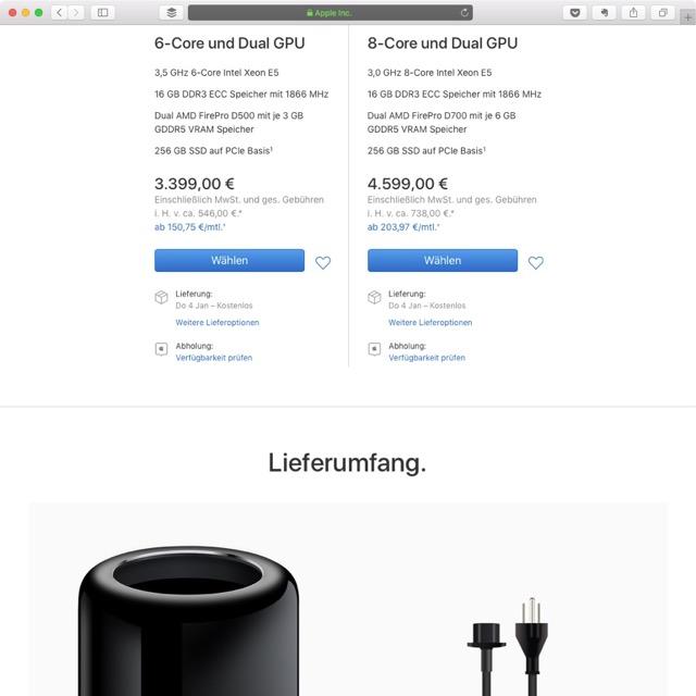 Mac Pro kaufen bei Apple in 2018
