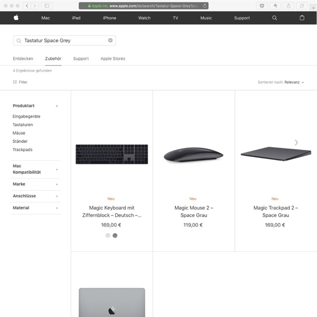 Tastatur Space Grey