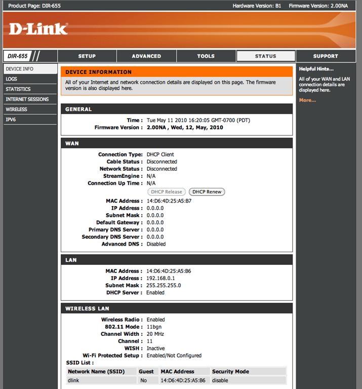 D-Link DIR-655 Xtreme N Gigabit Wireless Router - Advanced