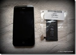 iPhone 4S and Replacement Battery