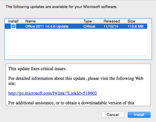 Fix Mac Office 2011 Crashing in Yosemite - Mac SP3