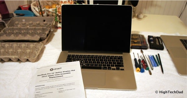 Replace a MacBook Pro Keyboard - the operating table