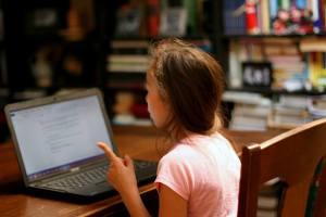 Sally writing