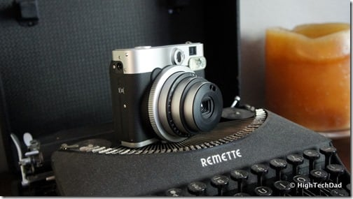 HTD Fujifilm Instax Mini 90 on typewriter