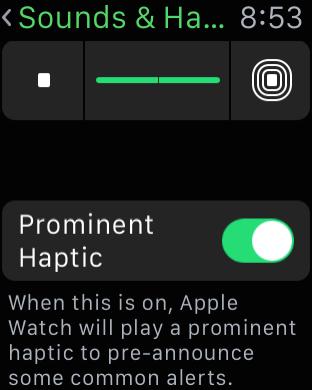 Apple Watch Tips - Prominent Haptic