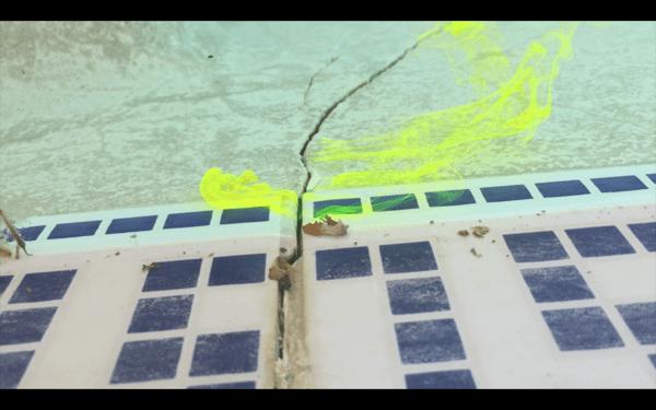 Pool dye - find and fix a leak in a pool