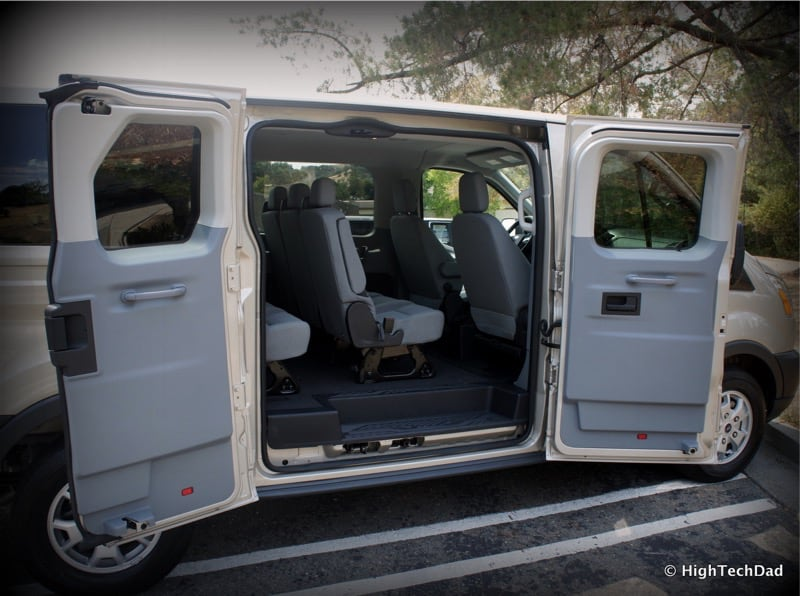 2015 Ford Transit Wagon XLT - Passenger doors open
