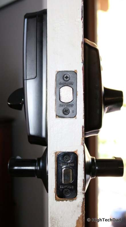 HTD Schlage Sense - side of door