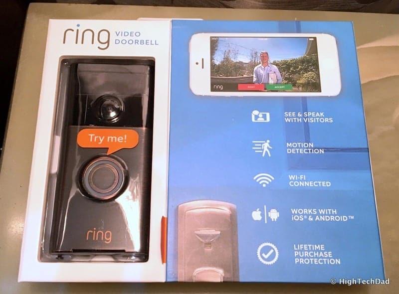 HTD Ring doorbell - box closed
