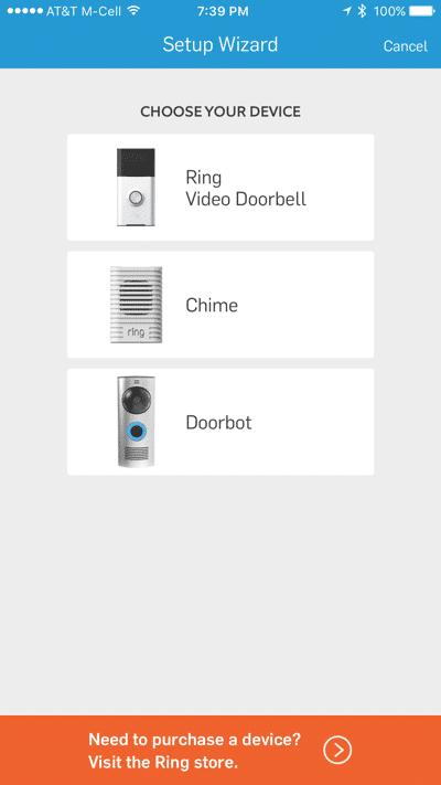HTD Ring doorbell - iOS #1
