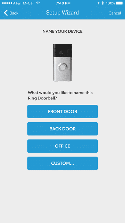 HTD Ring doorbell - iOS #2