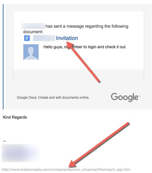 HTD Google Docs Phishing Scam - link