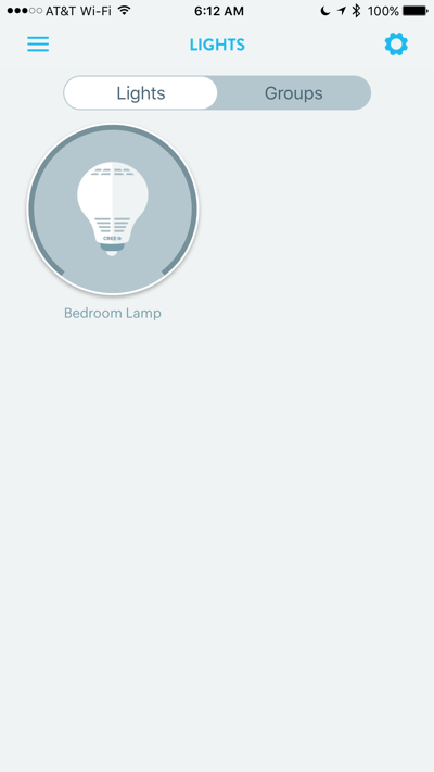 HTD Wink & Cree Connected LED Light Bulb - iOS lights