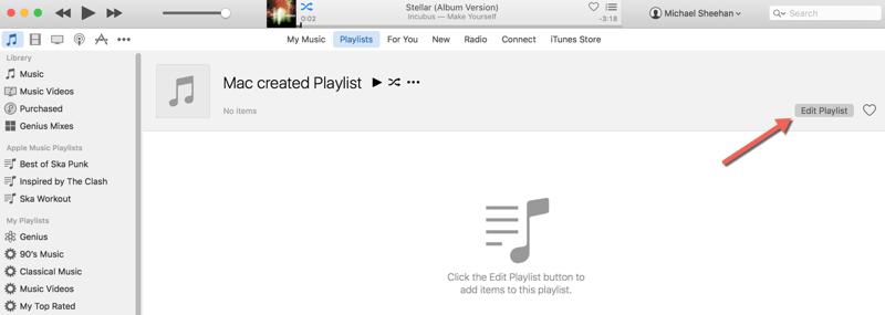 HTD Set Up & Sync iTunes Playlist - edit playlist