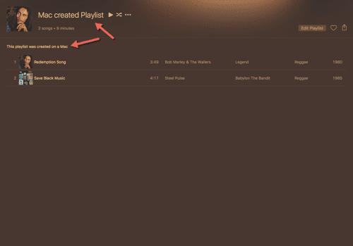 HTD Set Up & Sync iTunes Playlist - playlist created