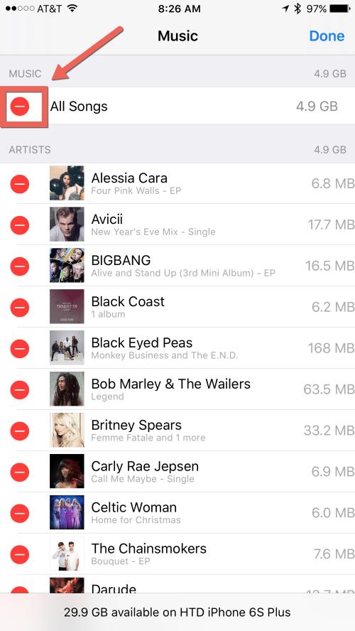 HTD Bulk Delete Music from iOS - bulk delete music